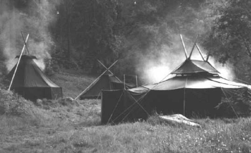 Pfadfindergeschichte Zelte